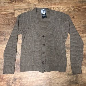 Brown, Acrylic Cardigan